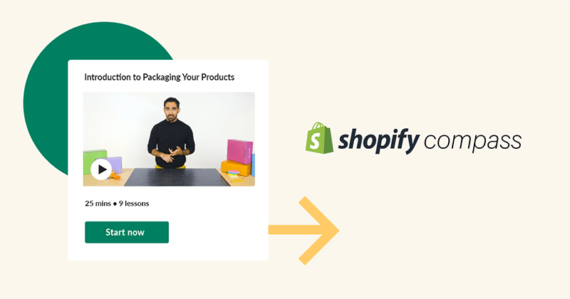 Introduction to Packaging Your Products course on Shopify Compass