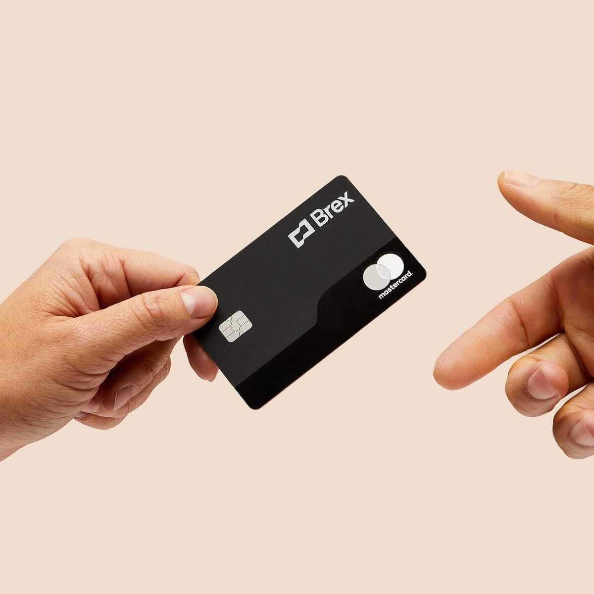 holding brex card