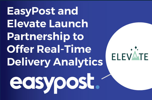 EasyPost and Elevate partnership logos