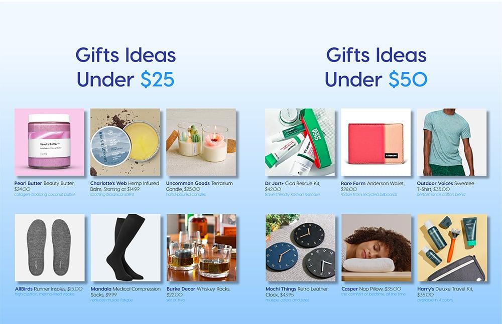 Gift Ideas Under $25, Gift Ideas Under $50