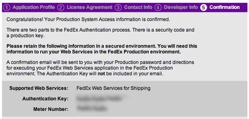 FedEx Meter Number Step 7