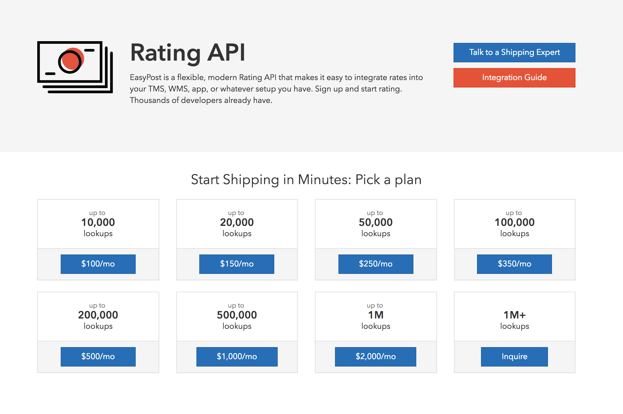 Rating API Subscription