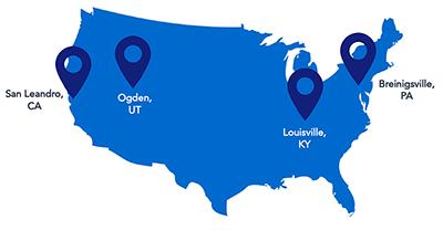 EasyPost warehouse locations