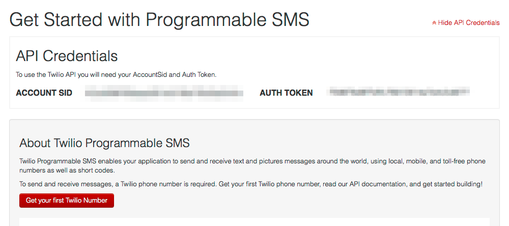 Twilio SMS dashboard