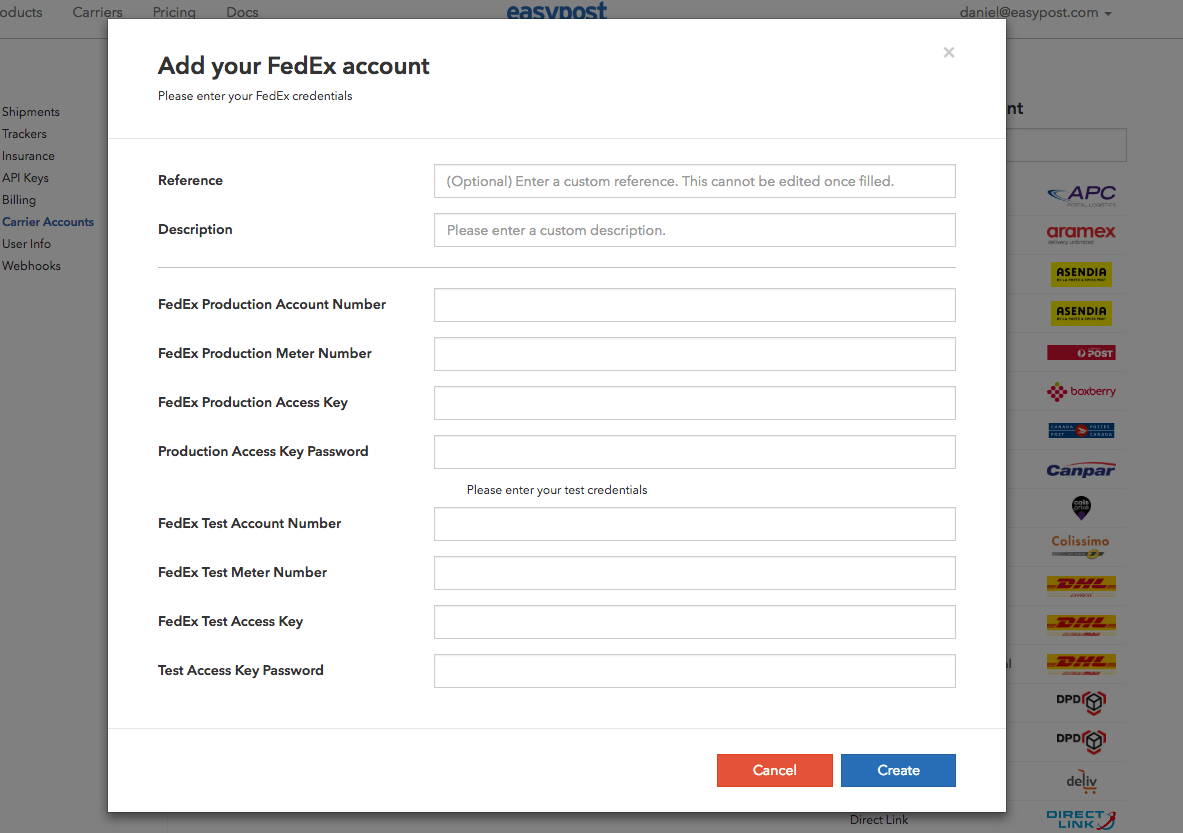 FedEx Test Account Setup 3