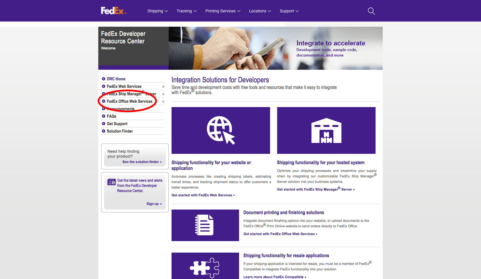 FedEx Web Services