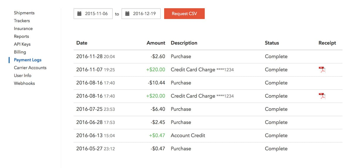 Payment Logs
