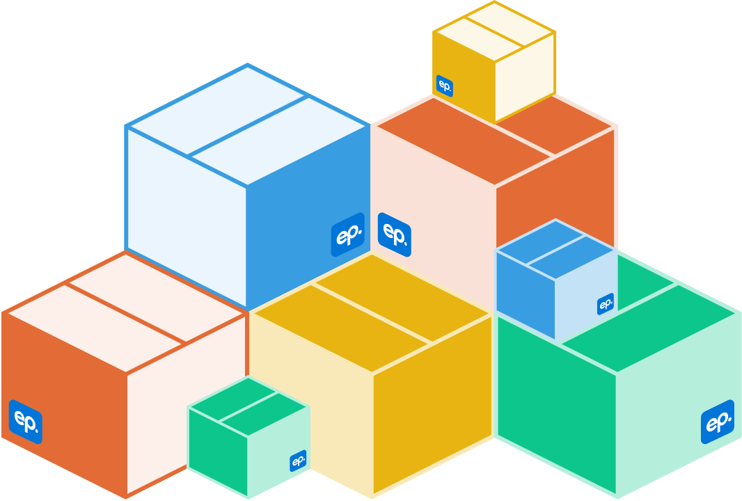 More and more layers of colorful boxes