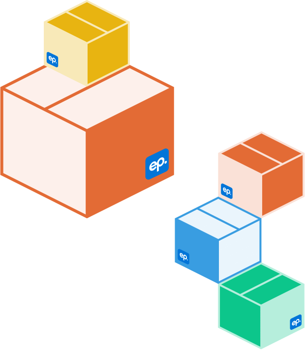More layers of colorful boxes