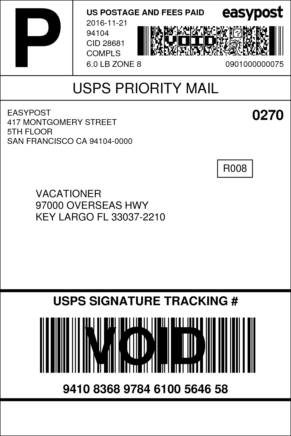 mail label