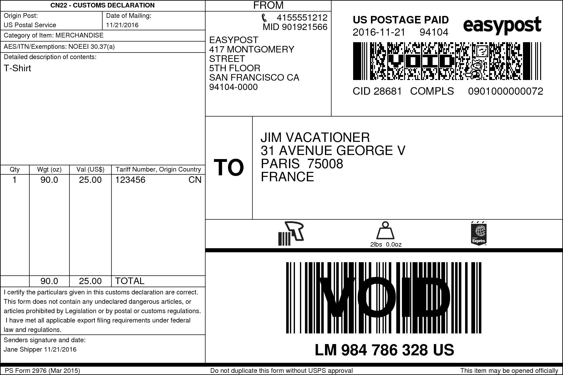 usps mail label format - Hong.hankk.co